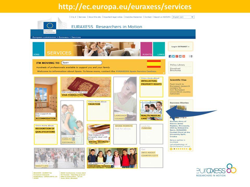 http://ec.europa.eu/euraxess/services