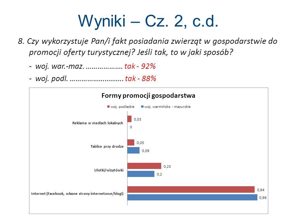 Wyniki – Cz.2, c.d. 8.
