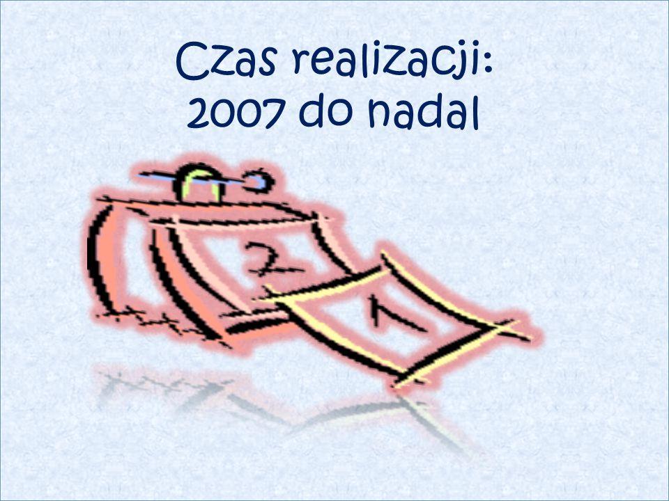 Czas realizacji: 2007 do nadal