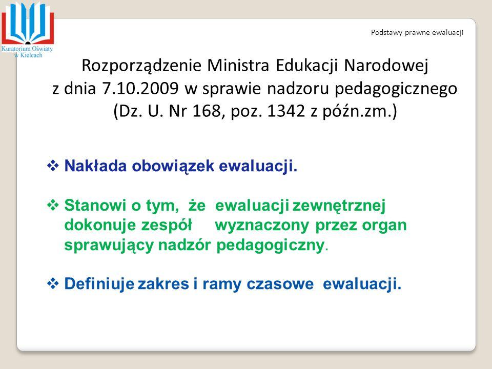 Rozporządzenie Ministra Edukacji Narodowej z dnia 7.10.2009 w sprawie nadzoru pedagogicznego (Dz. U. Nr 168, poz. 1342 z późn.zm.) Podstawy prawne ewa