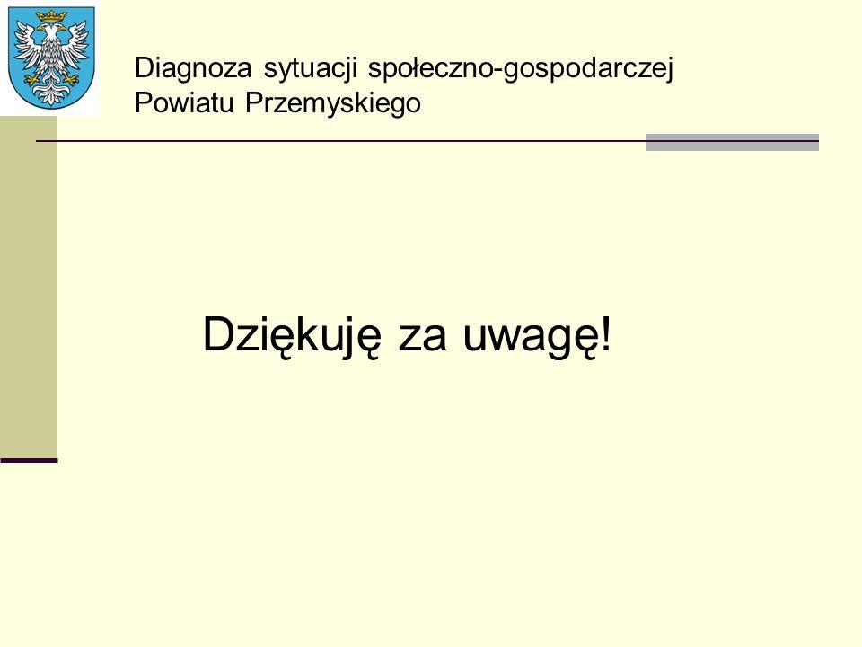 Dziękuję za uwagę! Diagnoza sytuacji społeczno-gospodarczej Powiatu Przemyskiego