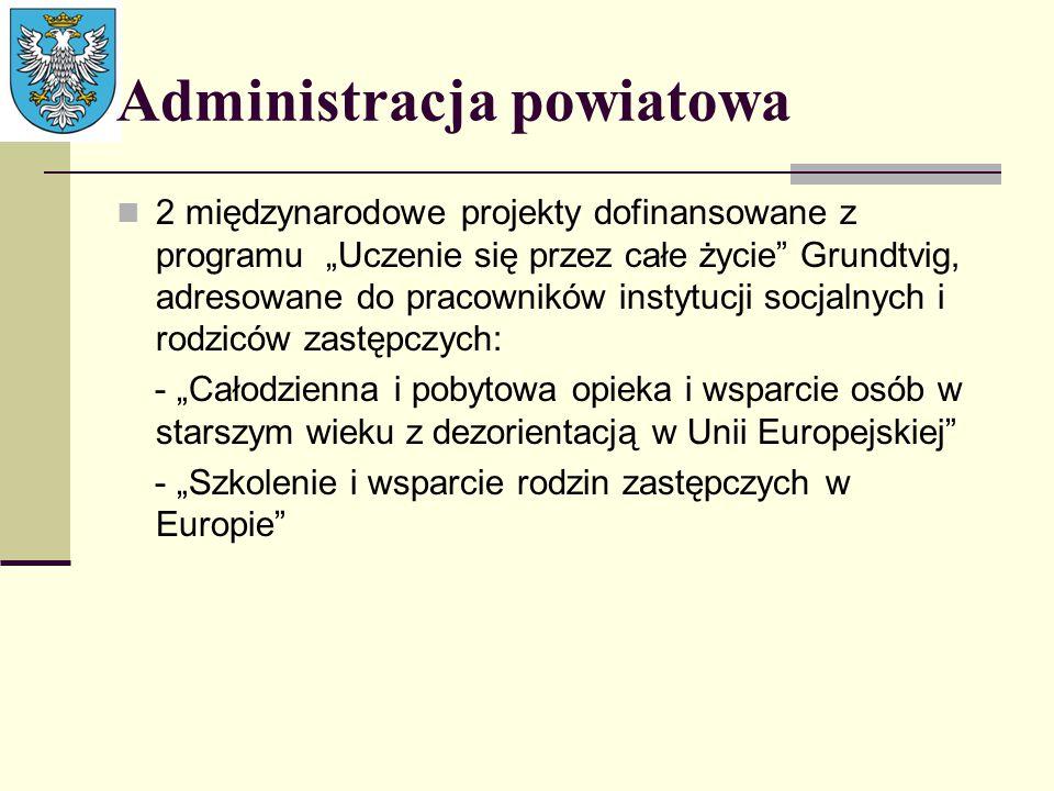 """Administracja powiatowa 2 międzynarodowe projekty dofinansowane z programu """"Uczenie się przez całe życie"""" Grundtvig, adresowane do pracowników instytu"""