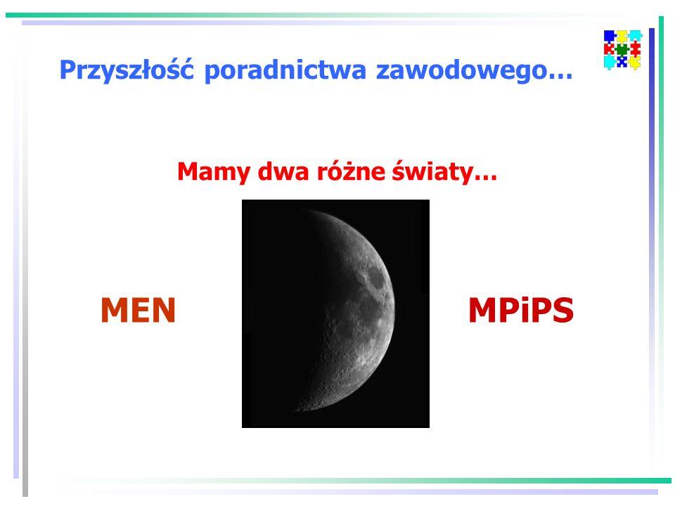 Przyszłość poradnictwa zawodowego… Mamy dwa różne światy… MENMPiPS
