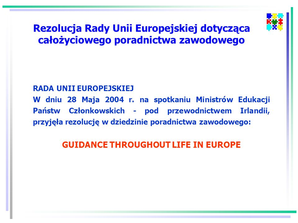 RADA UNII EUROPEJSKIEJ W dniu 28 Maja 2004 r.
