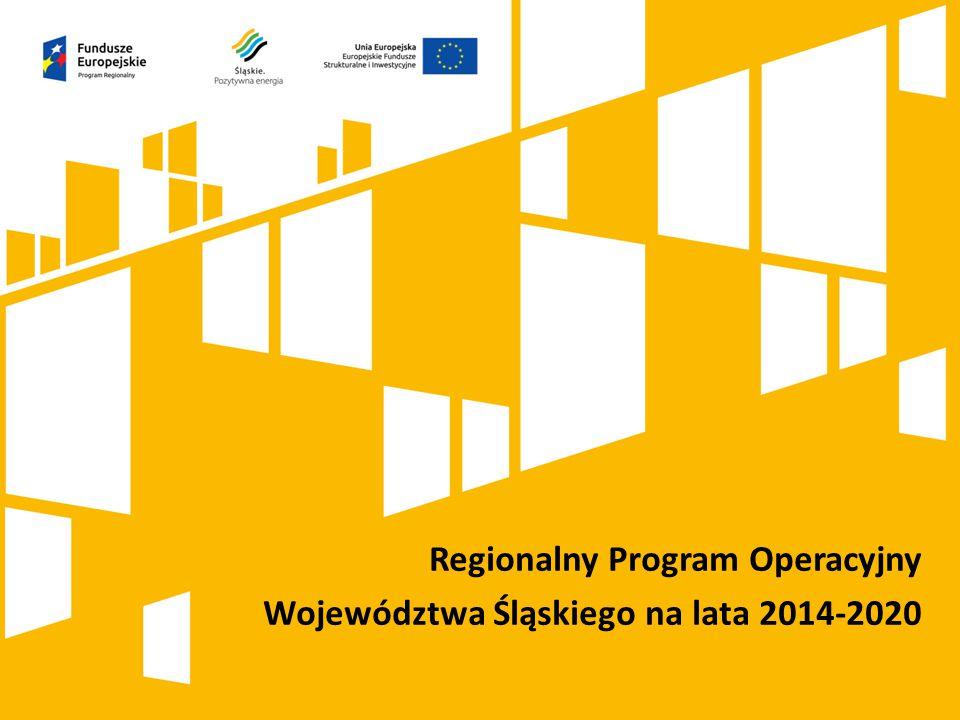 Regionalny Program Operacyjny Województwa Śląskiego na lata 2014-2020