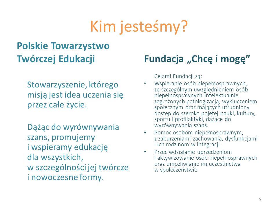 """Dziękujemy za uwagę Polskie Towarzystwo Twórczej Edukacji Fundacja """"Chcę i mogę 10"""
