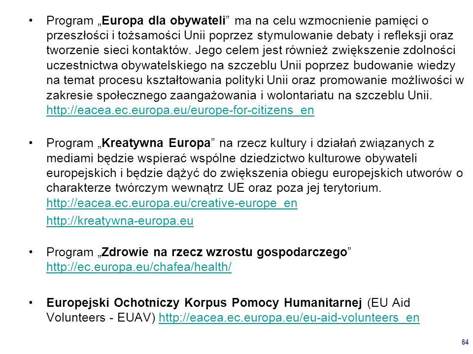 """Program """"Europa dla obywateli ma na celu wzmocnienie pamięci o przeszłości i tożsamości Unii poprzez stymulowanie debaty i refleksji oraz tworzenie sieci kontaktów."""