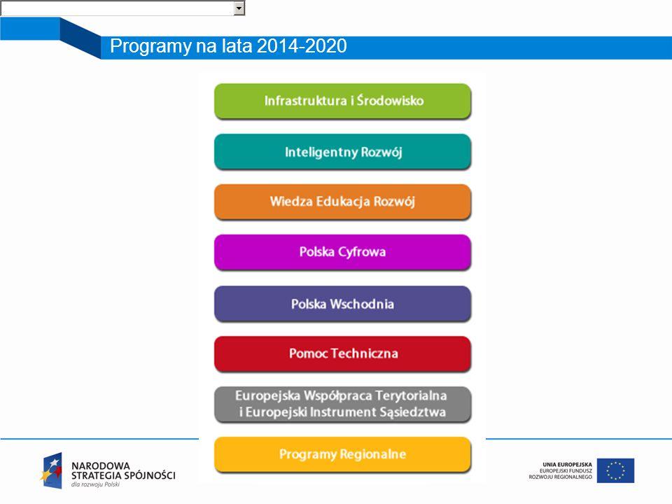Programy na lata 2014-2020