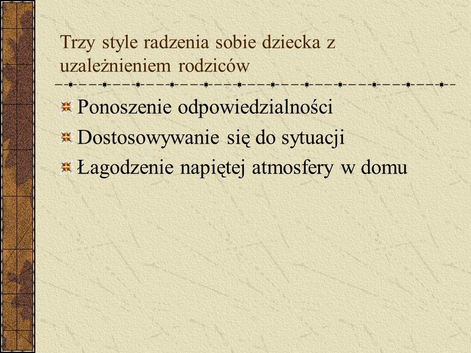 Dysfunkcyjne role, jakie pełnią dzieci alkoholików w rodzinie Ratownik Podpora rodziny Kozioł ofiarny Maskotka