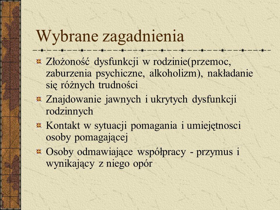 Kontakt i praca z rodziną dysfunkcyjną Anna Filipiak – Siewodnik i Ewa Gordziej PCPR, Środa Wlkp., 2004r.