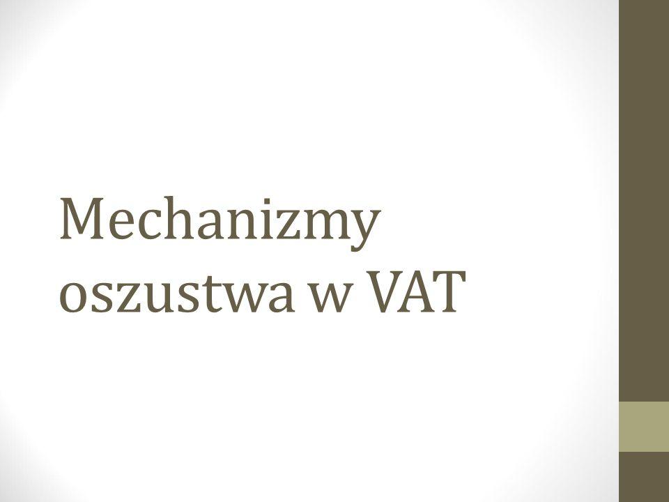 Mechanizmy oszustwa w VAT