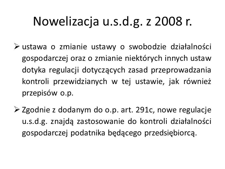 Nowelizacja u.s.d.g.z 2008 r.
