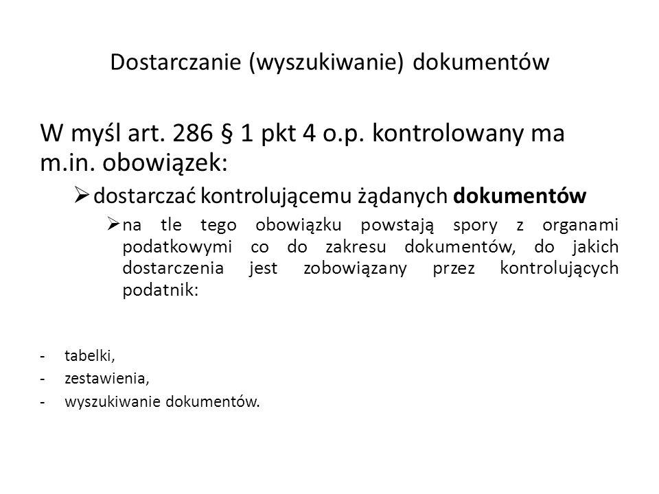 Dostarczanie (wyszukiwanie) dokumentów W myśl art.