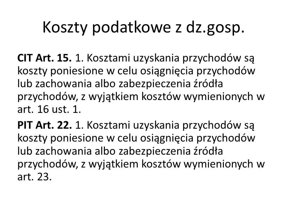 Koszty podatkowe z dz.gosp.CIT Art. 15. 1.