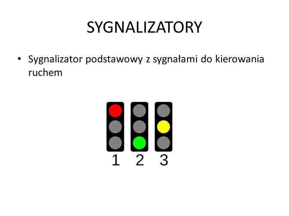 SYGNALIZATORY Sygnalizator podstawowy z sygnałami do kierowania ruchem
