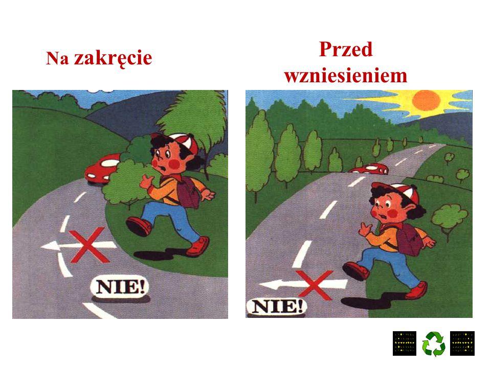 Oto miejsca gdzie nie wolno przechodzić przez jezdnię: przez barierki
