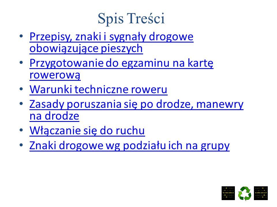 """WIRTUALNA LEKCJA Materiał szkoleniowy dla uczniów NSP """"Nasza Szkoła"""" Przygotowanie do egzaminu na kartę rowerową"""
