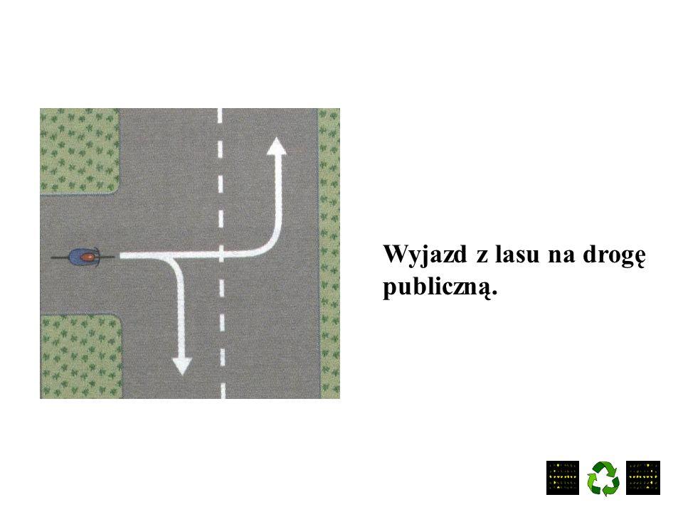 Wyjazd z podwórka na drogę publiczną.