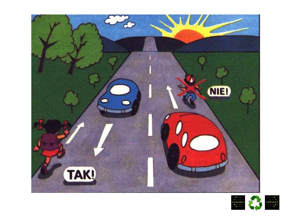 """Znak """"Agatka oznacza, że jest to najbezpieczniejsze przejście w okolicy."""