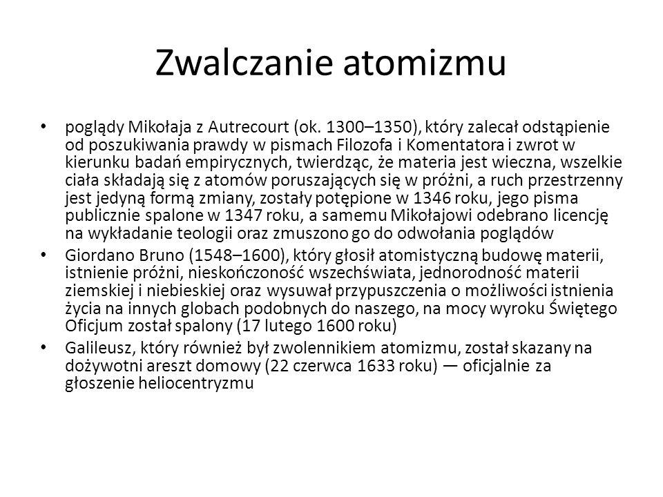 Zwalczanie atomizmu poglądy Mikołaja z Autrecourt (ok.