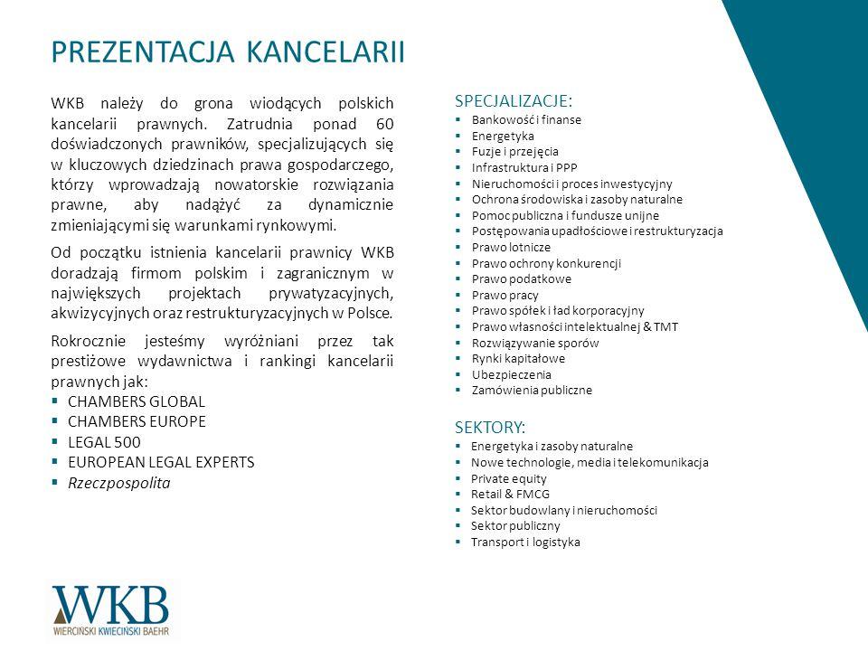 WKB należy do grona wiodących polskich kancelarii prawnych.