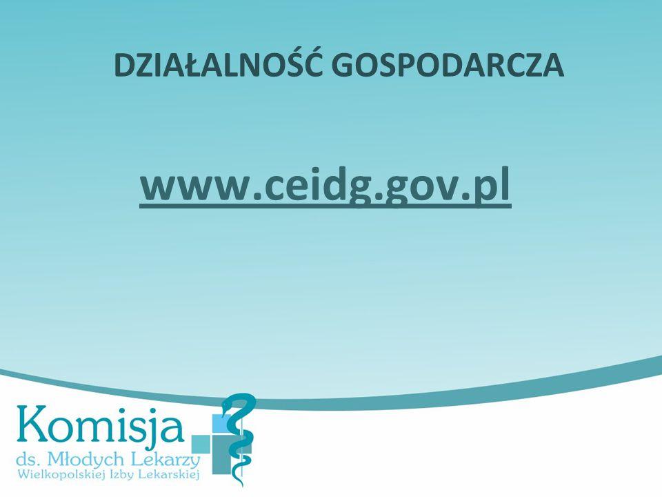 DZIAŁALNOŚĆ GOSPODARCZA www.ceidg.gov.pl