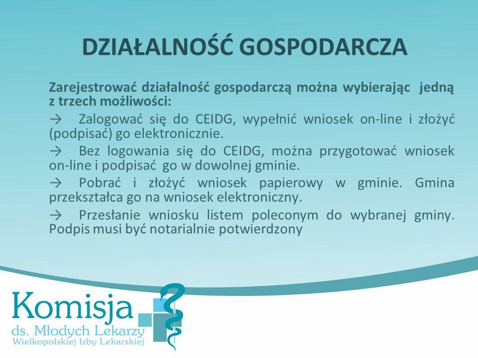 Zarejestrować działalność gospodarczą można wybierając jedną z trzech możliwości: → Zalogować się do CEIDG, wypełnić wniosek on-line i złożyć (podpisa