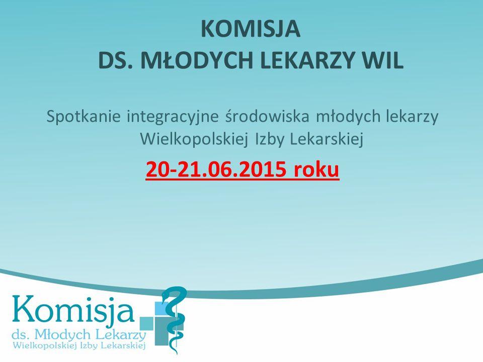 Spotkanie integracyjne środowiska młodych lekarzy Wielkopolskiej Izby Lekarskiej 20-21.06.2015 roku KOMISJA DS.