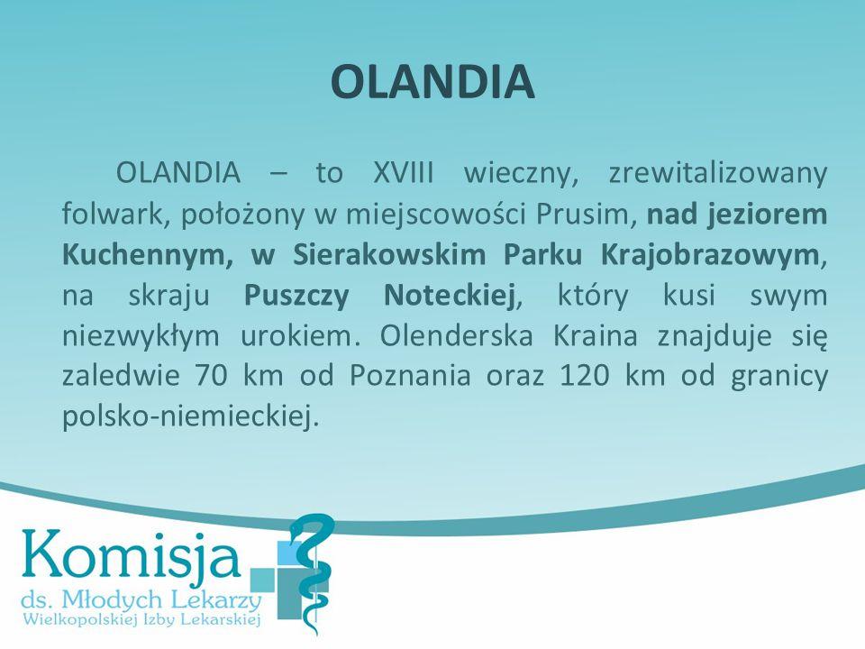 OLANDIA OLANDIA – to XVIII wieczny, zrewitalizowany folwark, położony w miejscowości Prusim, nad jeziorem Kuchennym, w Sierakowskim Parku Krajobrazowym, na skraju Puszczy Noteckiej, który kusi swym niezwykłym urokiem.