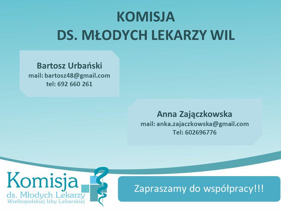 Zapraszamy do współpracy!!! Bartosz Urbański mail: bartosz48@gmail.com tel: 692 660 261 Anna Zajączkowska mail: anka.zajaczkowska@gmail.com Tel: 60269