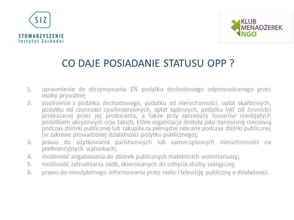 1.organizacja pozarządowa w rozumieniu art.3 ust.