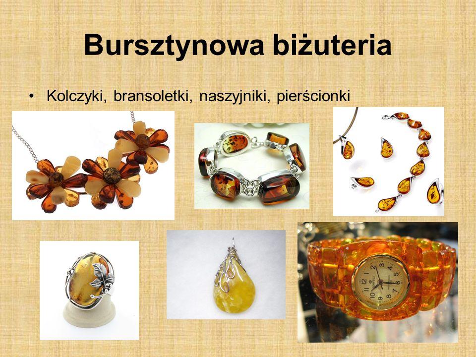 Bursztynowa biżuteria Kolczyki, bransoletki, naszyjniki, pierścionki