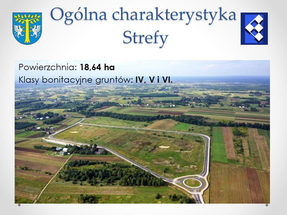Ogólna charakterystyka Strefy Powierzchnia: 18,64 ha Klasy bonitacyjne gruntów: IV, V i VI.