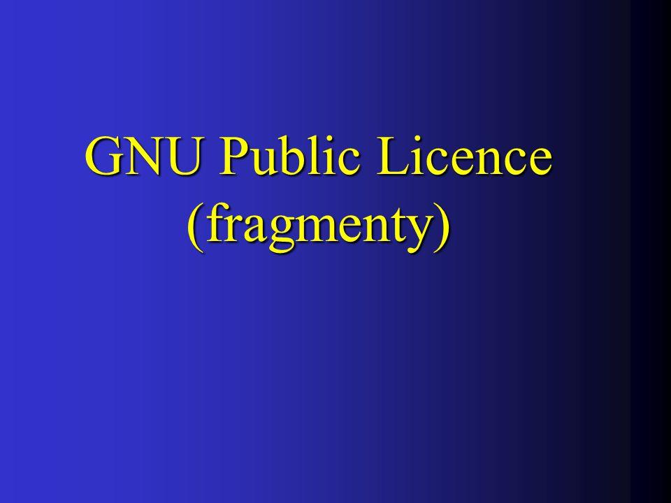 GNU Public Licence (fragmenty)
