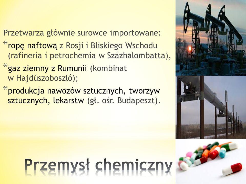 Zakłady przemysłu spożywczego: młyny, cukrownie, olejarnie, przetwórnie mięsa, warzyw (pomidory, papryka) i owoców, są rozproszone na terenie całego k