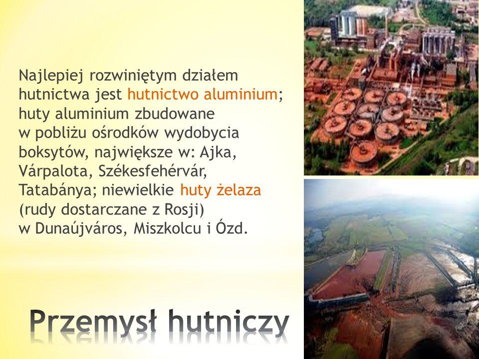 Przetwarza głównie surowce importowane: * ropę naftową z Rosji i Bliskiego Wschodu (rafineria i petrochemia w Százhalombatta), * gaz ziemny z Rumunii