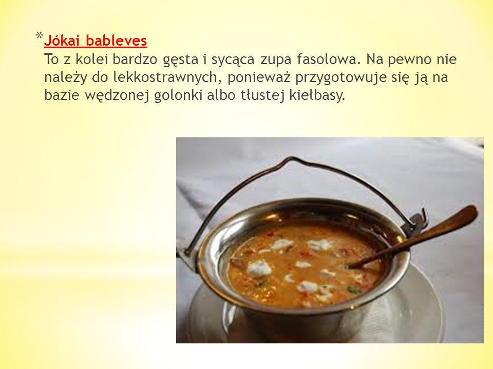 * Zupa rybna (Halász leves) Jest obok gulaszu najpopularniejszą z zup węgierskich. Dobrze przyrządzona zachwyca nawet najwybredniejszych smakoszy. Prz