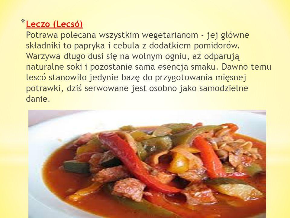 * Pieczeń wieprzowa (Brassói aprópecsenye) Bardzo smaczne i lubiane przez Węgrów danie, serwowane również w większości restauracji. Przygotowuje się j