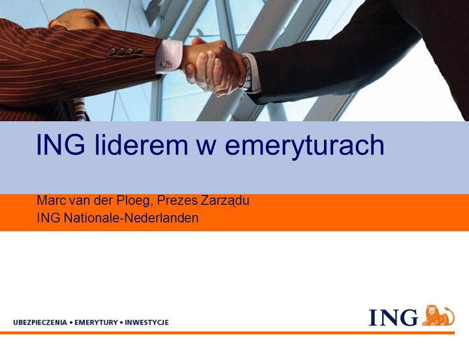 Pole zarezerwowane dla paska brandingowego ING liderem w emeryturach Marc van der Ploeg, Prezes Zarządu ING Nationale-Nederlanden
