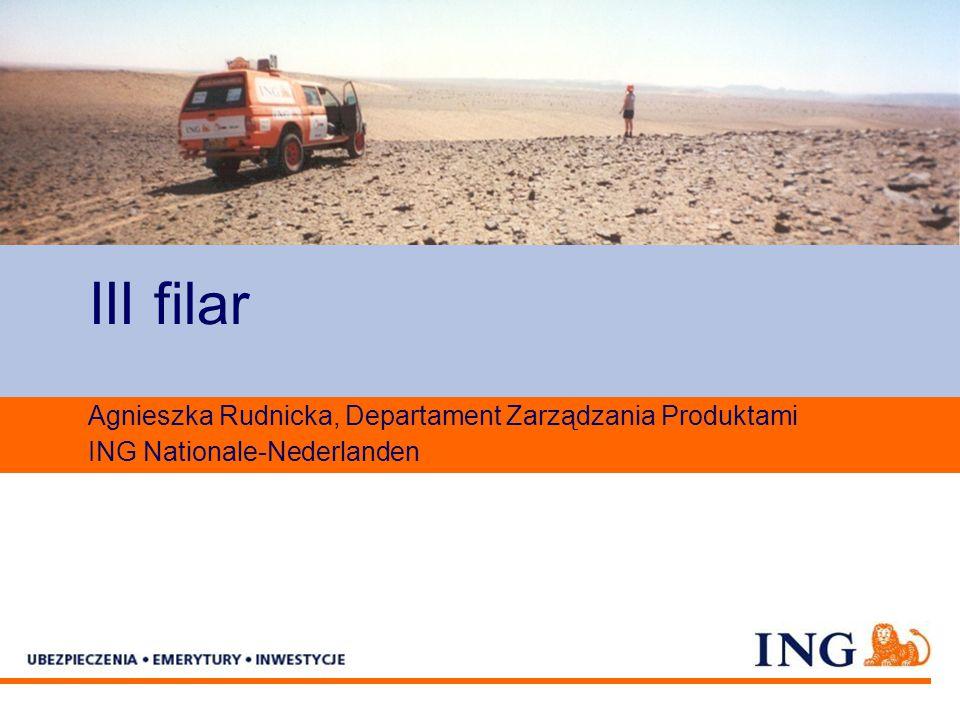 Pole zarezerwowane dla paska brandingowego III filar Agnieszka Rudnicka, Departament Zarządzania Produktami ING Nationale-Nederlanden