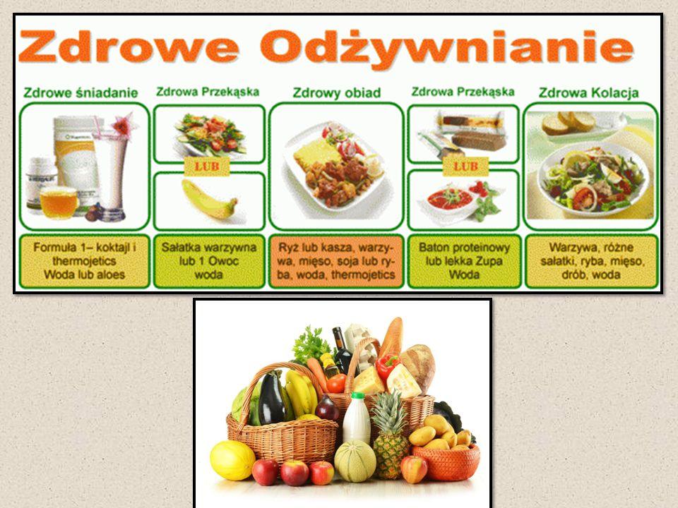 Zasady racjonalnego żywienia Prawidłowe żywienie polega na całkowitym pokryciu zapotrzebowania organizmu na energię oraz wszystkie składniki pokarmowe potrzebne do rozwoju życia i zachowania zdrowia.
