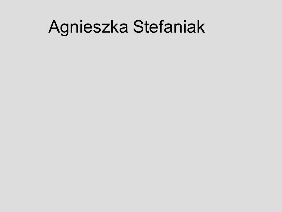 ćwiczenie 1 - txt Zyciorys.Nazywam się Agnieszka Stefaniak.Urodzilam sie w Mielcu (woj.