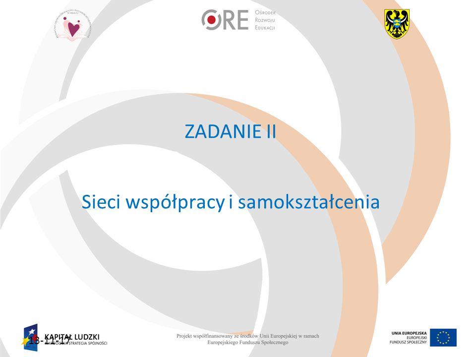 ZADANIE II Sieci współpracy i samokształcenia 13-11-17