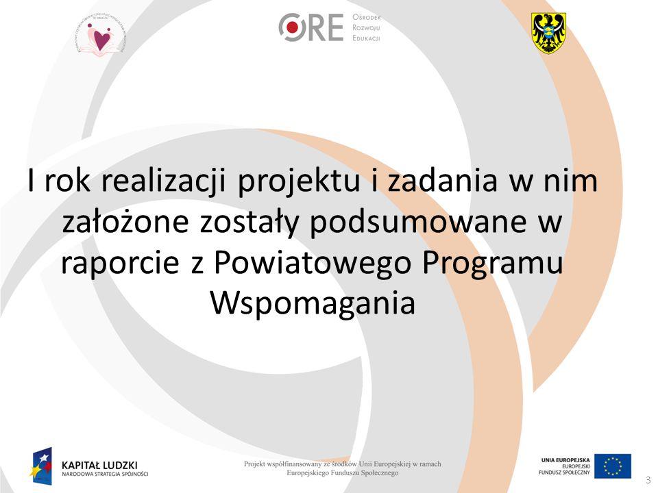 I rok realizacji projektu i zadania w nim założone zostały podsumowane w raporcie z Powiatowego Programu Wspomagania 3