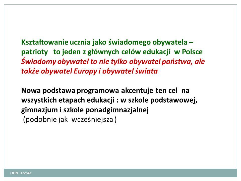 Kształtowanie ucznia jako świadomego obywatela – patrioty to jeden z głównych celów edukacji w Polsce Świadomy obywatel to nie tylko obywatel państwa,