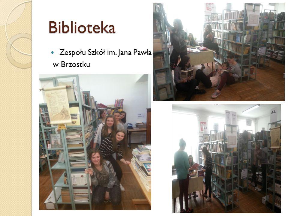 Biblioteka Zespołu Szkół im. Jana Pawła II w Brzostku