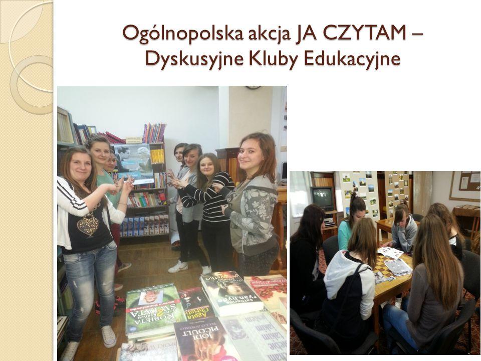 Ogólnopolska akcja JA CZYTAM – Dyskusyjne Kluby Edukacyjne