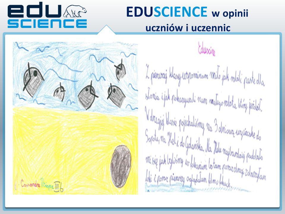 EDUSCIENCE w opinii uczniów i uczennic W pierwszym roku programu EDUSCIENCE najciekawszym okazało się spotkanie z naukowcami, którzy pokazali nam doświadczenia z udziałem robota oraz niezwykłe nadmuchiwanie balonów z użyciem wody.