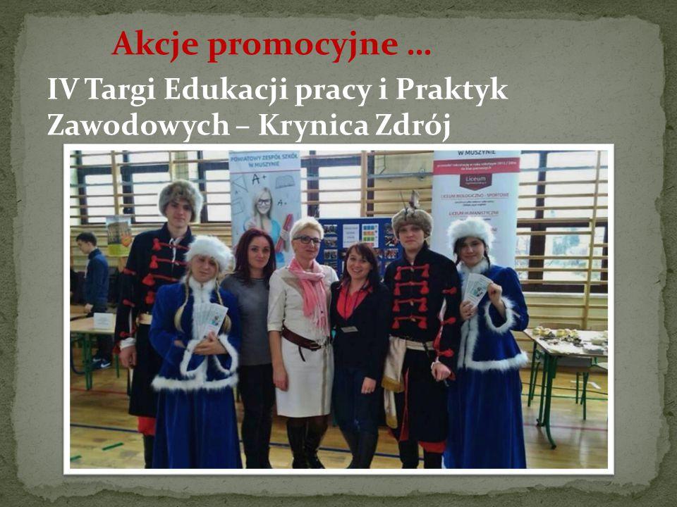 Akcje promocyjne … IV Targi Edukacji pracy i Praktyk Zawodowych – Krynica Zdrój