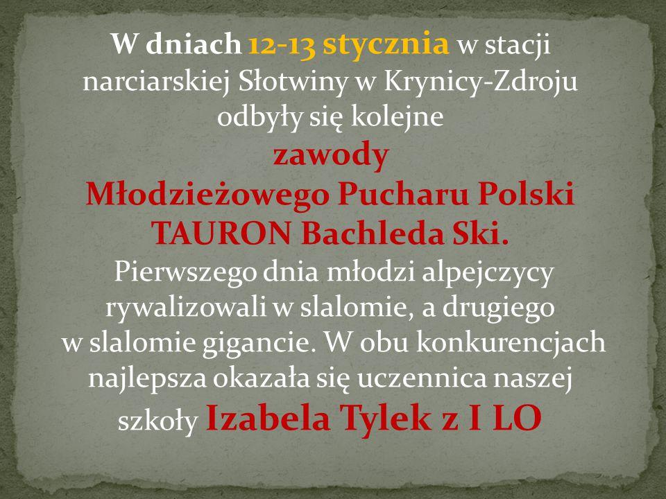 W dniach 12-13 stycznia w stacji narciarskiej Słotwiny w Krynicy-Zdroju odbyły się kolejne zawody Młodzieżowego Pucharu Polski TAURON Bachleda Ski.